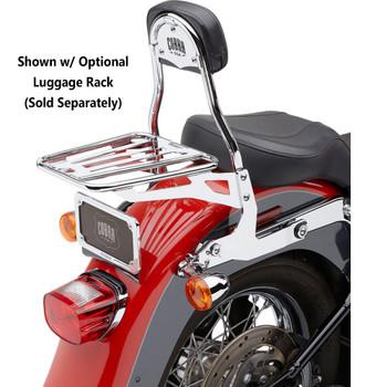 Cobra Detachable Backrest Kit for Harley Softail - Chrome