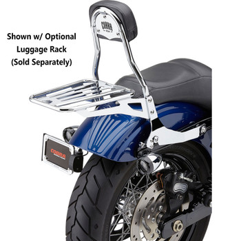 Cobra Detachable Backrest Kit for 2006-2017 Harley Dyna - Chrome
