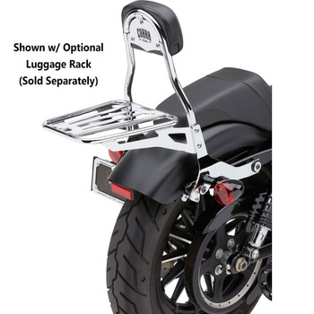 Cobra Detachable Backrest Kit for 2004-2017 Harley Sportster - Chrome