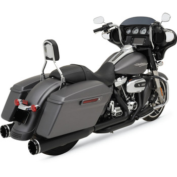 Khrome Werks 2-Into-2 Exhaust System with Two-Step Crossover Headers for 2017 Harley Touring - Black