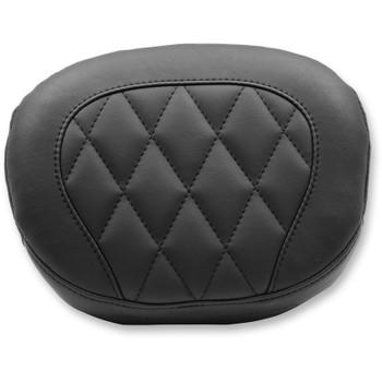 Mustang Diamond Large Sissy Bar Pad for Harley Softail Slim and Blackline - Black