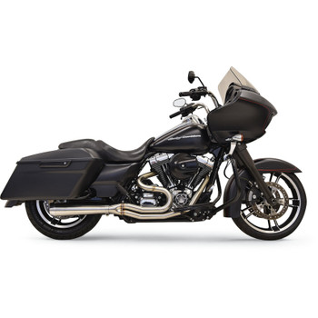 Bassani Short Road Rage III Stainless 2-Into-1 Exhaust System for 2007-2016 Harley Touring