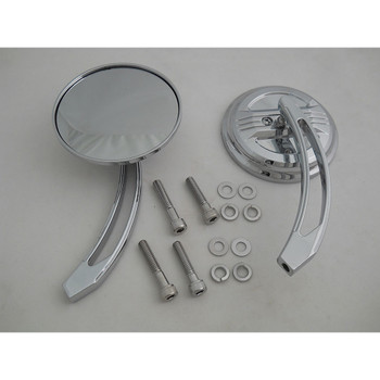 V-Twin Billet Airflow Mirror Set - Curved Stems