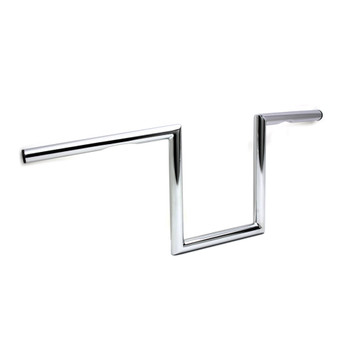 "V-Twin 1"" Chrome 8"" Dimpled Z-Bars Handlebars"