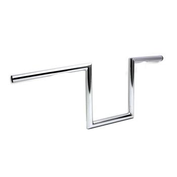 "V-Twin 1"" Chrome 8"" Dimpled Z-Bars Handlebars"