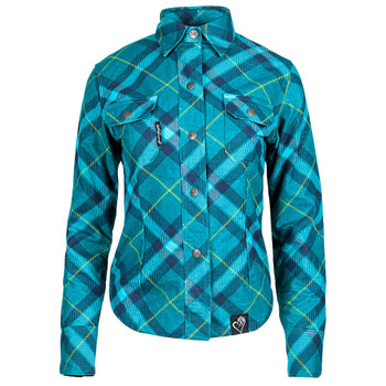 Speed and Strength Cross My Heart Women's Armored Moto Shirt - Teal
