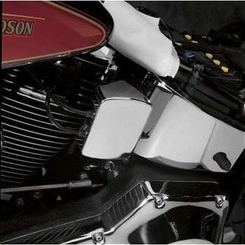 Drag Specialties Smooth Chrome Coil Cover for 1965-1999 Harley