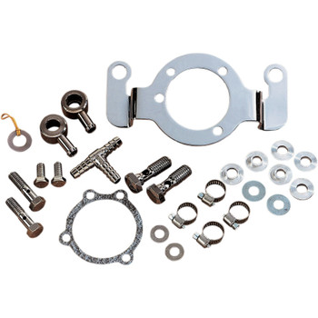 Drag Specialties Crankcase Breather/Support Bracket Kit for 1993-2017 Harley Big Twin