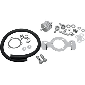 Drag Specialties Crankcase Breather/Support Bracket Kit for 2007-2017 Harley Sportster