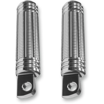 Burly Stash Foot Pegs for Harley - Clear