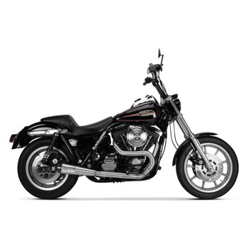 Two Brothers Racing 2-Into-1 Comp-S Exhaust for 1990-1994 Harley FXR - Stainless with Carbon Fiber Tip