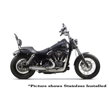 Two Brothers Racing 2-Into-1 Gen II Comp-S Exhaust for 2006-2017 Harley Dyna - Black