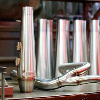 Thrashin Supply OG Stainless Steel 2-Into-1 Exhaust for Harley FXR