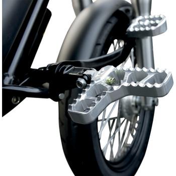 Joker Machine Adjustable Heel Foot Pegs for Harley - Clear