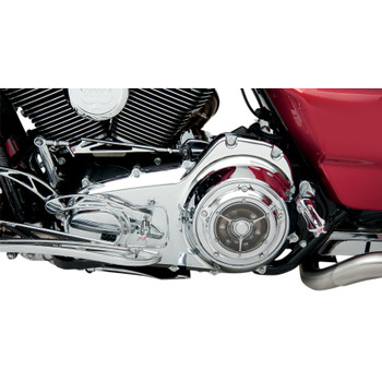 Roland Sands Clarity Derby Cover for 1999-2018 Harley Big Twin - Chrome