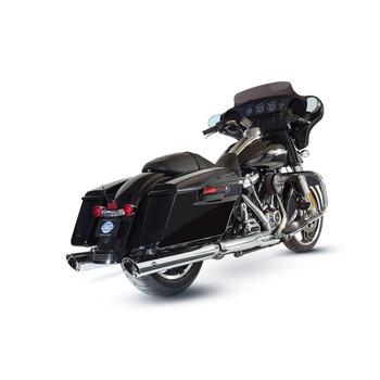 "S&S 4"" Slash Cut Slip-On Exhaust Mufflers for 2017-2018 Harley Touring - Chrome"