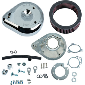 S&S Teardrop Air Cleaner Kit for 2008-2017 Harley*- Chrome - 170-0305B