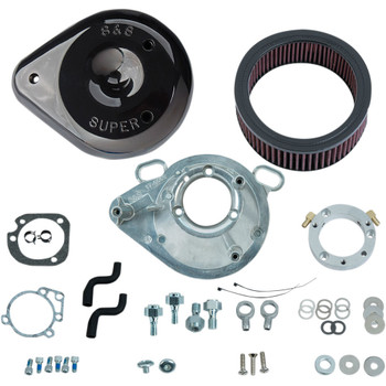 S&S Teardrop Air Cleaner Kit for 2001-2017 Harley* - Black - 170-0304B