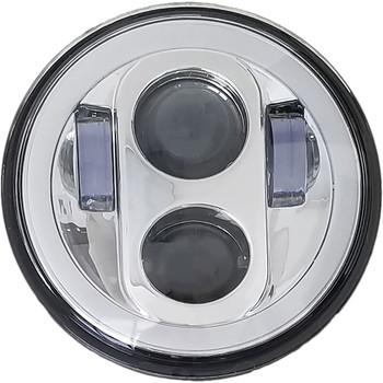 """Pathfinder 5-3/4"""" LED Headlight with Full Halo - Chrome"""