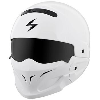 Scorpion Covert White Convertible Helmet