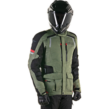 Alpinestars Andes Drystar Jacket V2 - Military Green/Black/Red