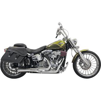 Bassani Short Road Rage 2-into-1 Exhaust System for 2013-2017 Harley Breakout/Rocker - Chrome