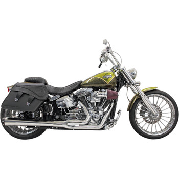 Bassani Long Road Rage 2-into-1 Exhaust System for 2013-2017 Harley Breakout/Rocker - Chrome
