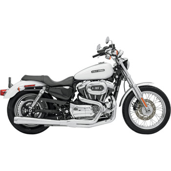 Bassani Long Road Rage 2-into-1 Exhaust System for 2004-2013 Harley Sportster - Chrome