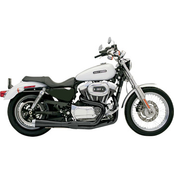 Bassani Short Upswept Road Rage 2-into-1 Exhaust System for 1986-2003 Harley Sportster - Black