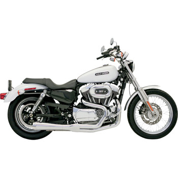 Bassani Short Upswept Road Rage 2-into-1 Exhaust System for 1986-2003 Harley Sportster - Chrome