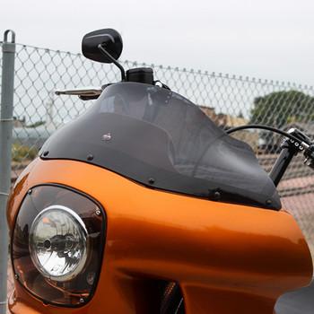 "Klock Werks 9"" Flare Windshield for Harley FXRP Style Fairings - Dark Smoke"