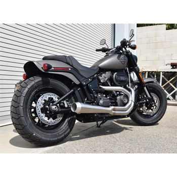 Bassani Road Rage 2-Into-1 Stainless Exhaust for 2018 Harley Fat Bob and Slim