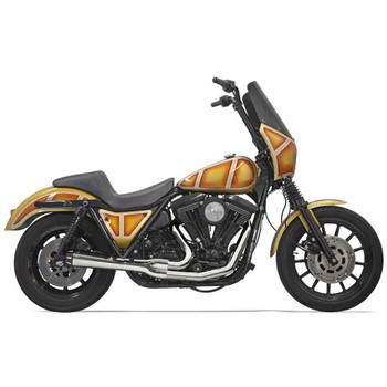 Bassani Short Road Rage Exhaust for Harley FXR - Chrome
