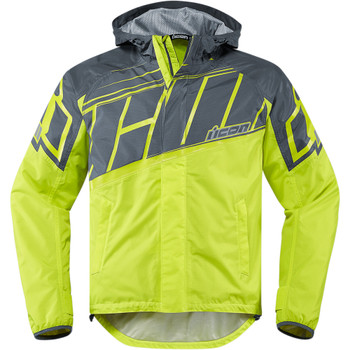 Icon PDX 2 Waterproof Jacket - Hi-Viz
