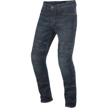 Alpinestars Crank Denim Motorcycle Riding Jeans - Greaser Dirty