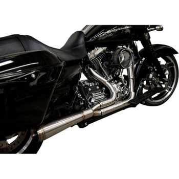 Trask Straight Assault 2-Into-1 Exhaust for 2009-2016 Harley Touring