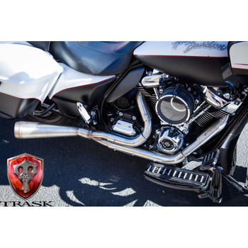 Trask Kickout Assault 2-Into-1 Exhaust for 2009-2016 Harley Touring