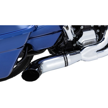 Python Rayzer 2-Into-1 Exhaust for 2017-2020 Harley Touring - Chrome