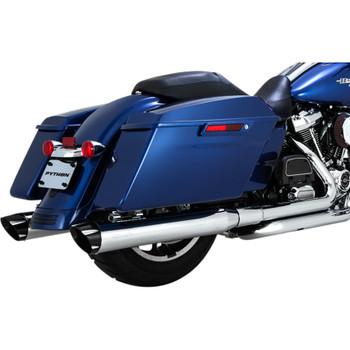 Python Rayzer Slip-On Exhaust Mufflers for 2017-2018 Harley Touring - Chrome