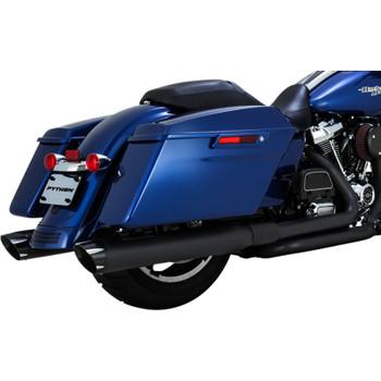 Python Rayzer Slip-On Exhaust Mufflers for 2017-2018 Harley Touring - Black