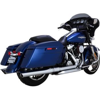 "Python 3-1/2"" Slash-Cut Slip-On Exhaust Mufflers for 2017-2018 Harley Touring - Chrome"