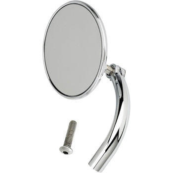 Biltwell Utility Mirror Round Perch Mount - Chrome