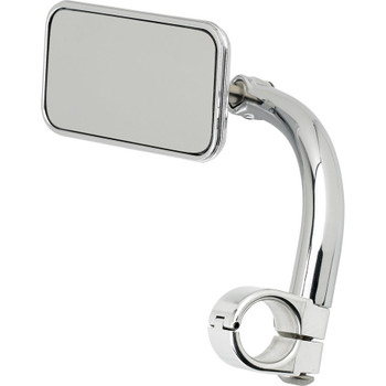 "Biltwell Utility Mirror Rectangle Clamp-On - 1"" Chrome"