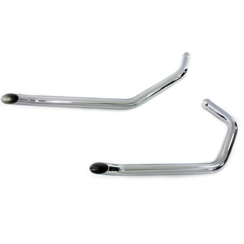 "Wyatt Gatling 1-3/4"" Drag Pipes Goose Style Exhaust for 1957-1985 Harley Ironhead Sportster - Chrome"