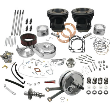 "S&S 93"" Hot Set Up Big Bore Stroker Kit for 1978-1984 Harley Shovelhead"