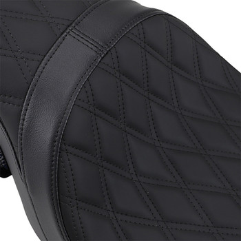 Drag Specialties Predator 2-Up Seat for 2008-2020 Harley Touring - Double Diamond Stitch