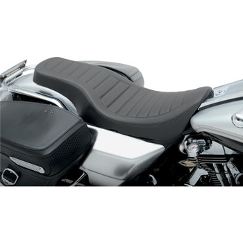 Drag Specialties Spoon Style Seat for 1997-2007 Harley FLHR FLHX - Classic Stitch