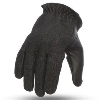 First Mfg. 2-Tone Roper Gloves - Black/Denim