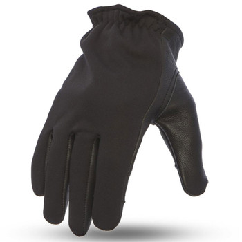 First Mfg. 2-Tone Roper Gloves - Black/Neoprene