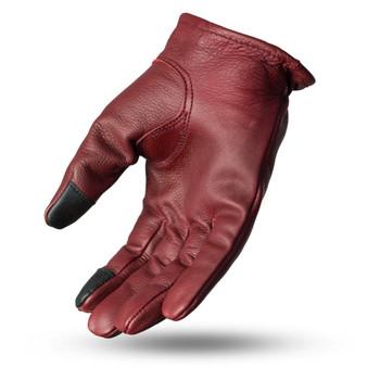 First Mfg. Roper Leather Gloves - Oxblood